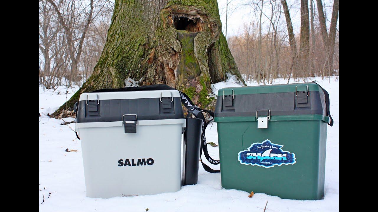 Обзор ящиков для зимней рыбалки Salmo и Golden Catch