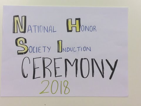 National Honor Society Induction Ceremony 2018