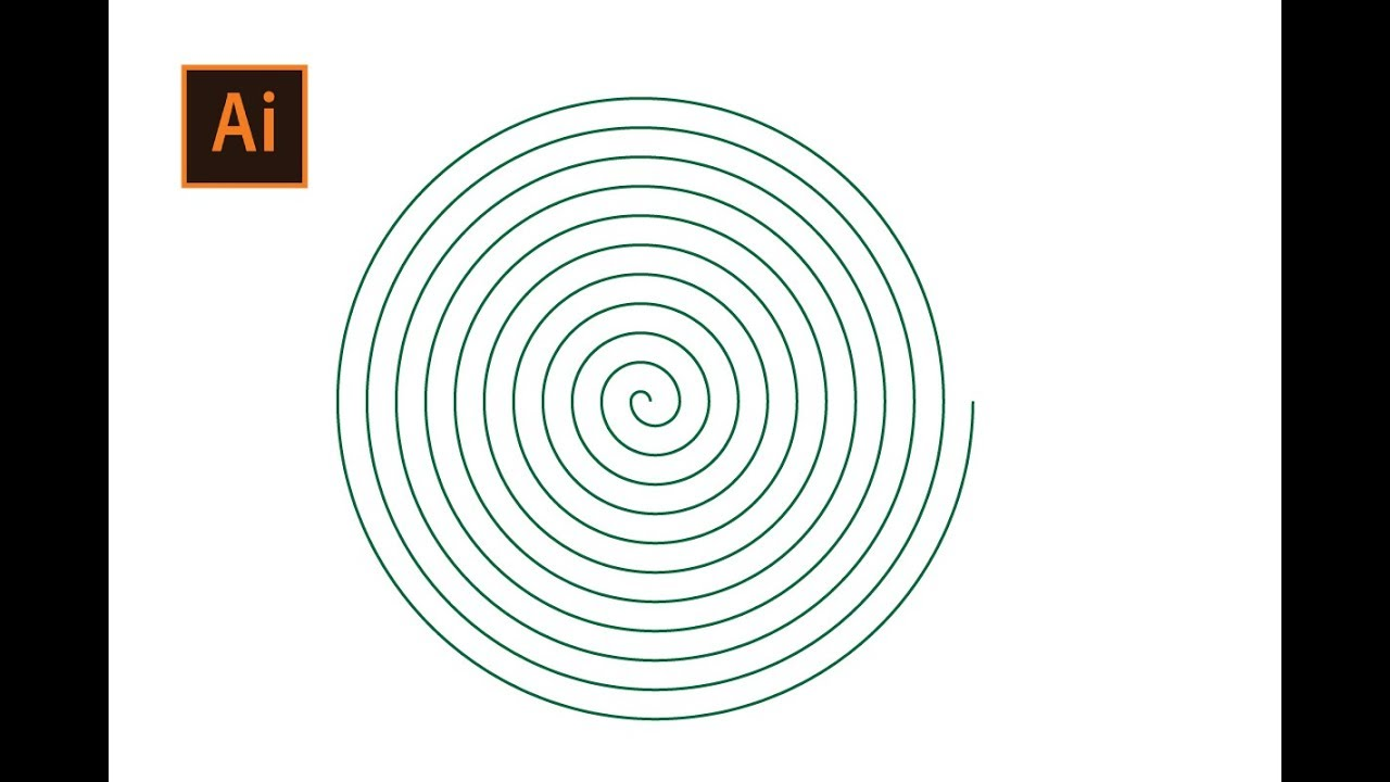 How to Draw a Linear Spiral in Adobe Illustrator