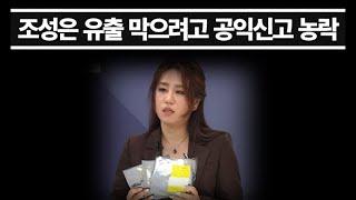 농락당한 공익신고, 찌라시 먼저 나오고 맞춘 듯이 진행... '조성은' 이름 석자 7일간 보도 막는 데만 활용