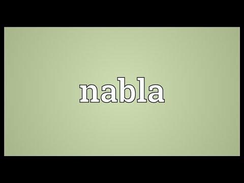 Nabla Meaning