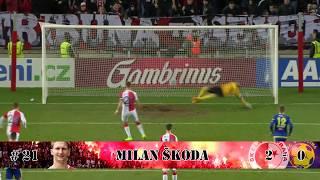 Slavia Praha - góly (jaro 2017)