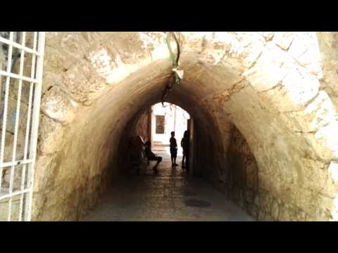 A street in the Christian Quarter of Jerusalem without tourists. Simply rare. Jerusalem, Israel