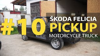 #10 Škoda Felicia Pickup 1.9D Rebuilding A Wrecked - Soundproofing car and first start