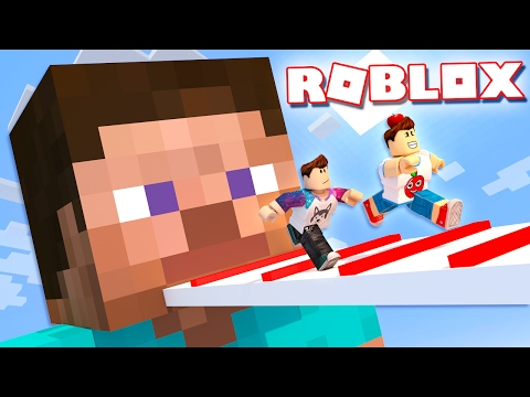 Roblox Adventures - ESCAPING MINECRAFT STEVE IN ROBLOX! (Roblox Minecraft Obby 2)