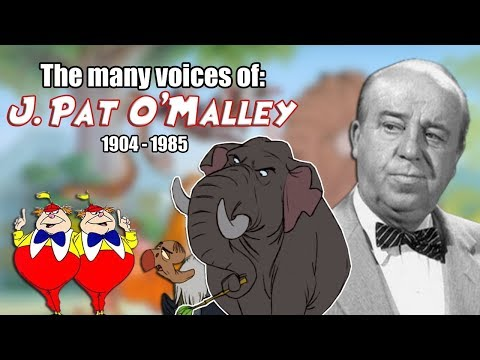Many Voices of J. Pat O'Malley  Animated Tribute  R.I.P.  Jungle Book  Robin Hood