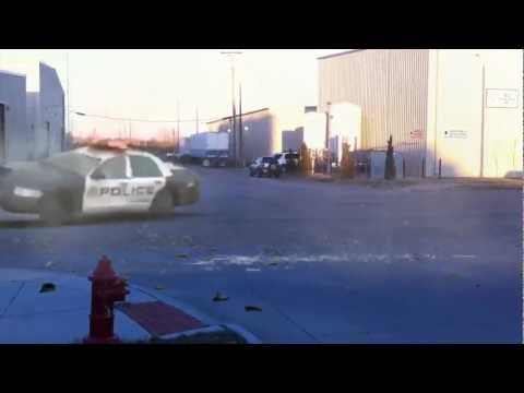 Police chase in front of D-J Engineering Augusta,Ks
