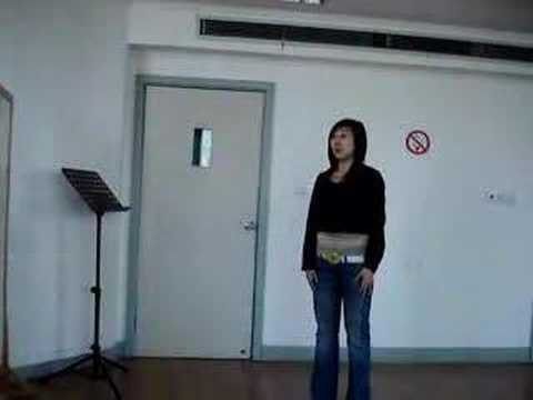 Chanteuse trad. (1) - Conservatoire de Shanghaï