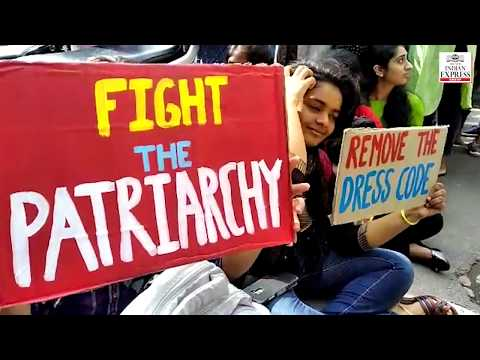 Hyderabad: Students of St Francis College protest against strict dress Code