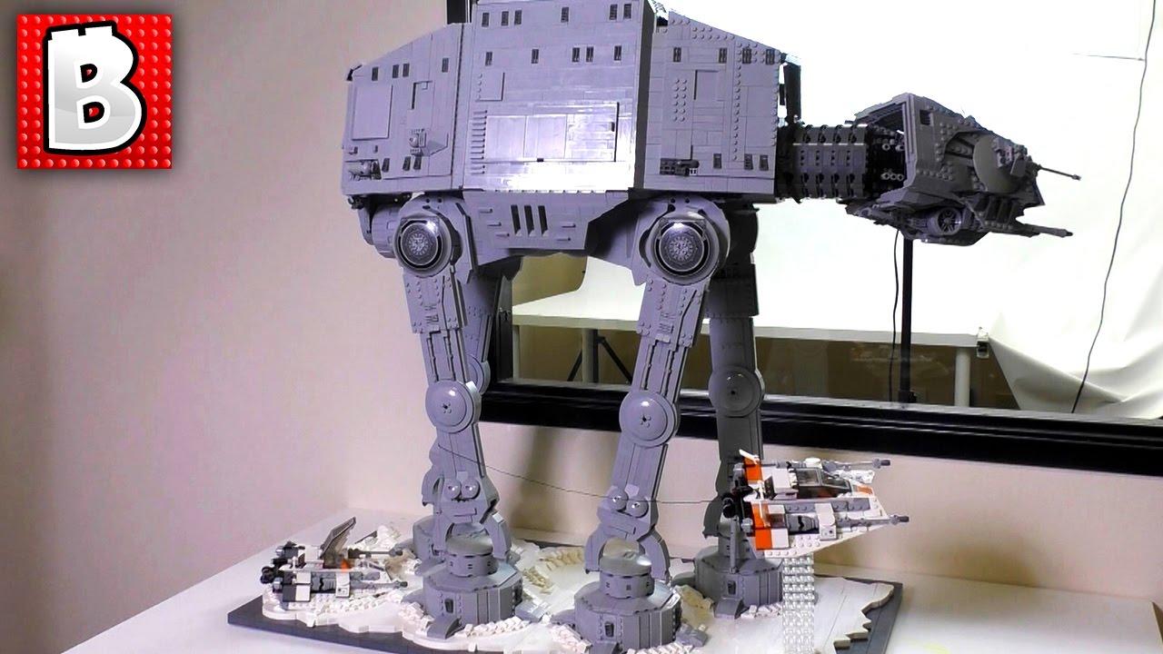 Biggest Lego Star Wars At At Walker Gets A Custom Hoth Stand