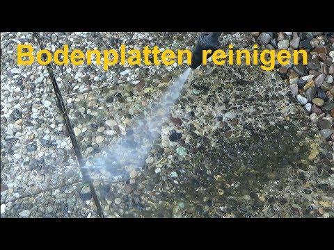 Bodenplatten reinigen Waschbetonplatten reinigen sauber machen Pflastersteine reinigen kärchern