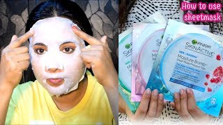 how to use sheetmask properly? Review and Demo