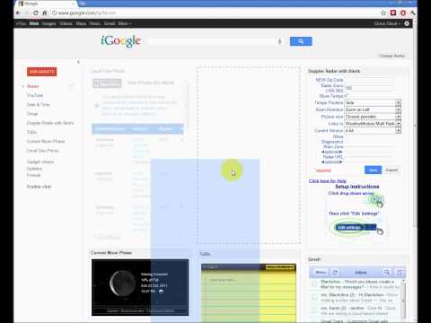 Using iGoogle as Your Home Page