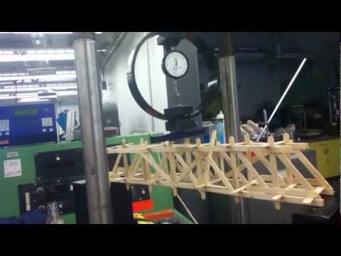Popsicle stick bridge strength test