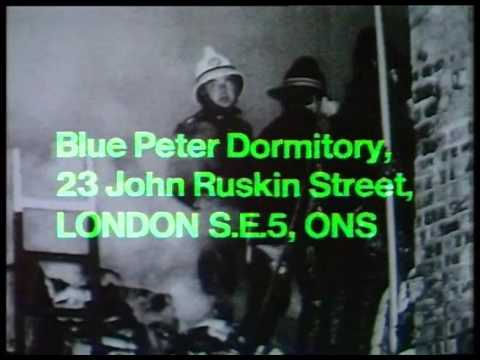 5 January 1972 BBC1 - Blue Peter fire report