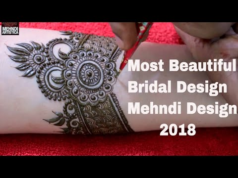 Most Beautiful Bridal Designer Mehndi Design 2018 Video