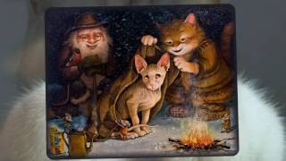 Кошки . Картины художника  А.Маскаев