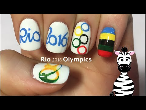 Rio 2016 olympics nail art design tutorial youtube rio 2016 olympics nail art design tutorial prinsesfo Gallery