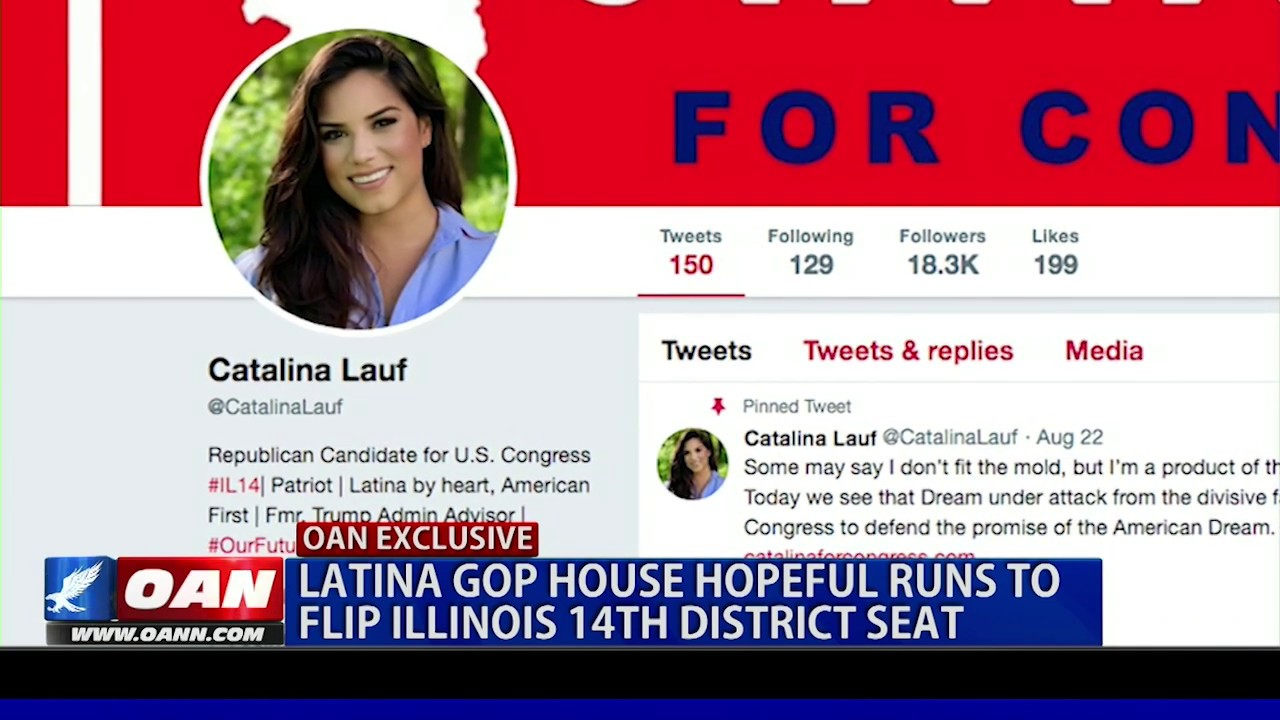 OAN Latina GOP House hopeful runs to flip Illinois 14th district seat