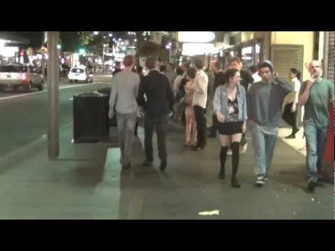 Walking along Darlinghurst Road, Kings Cross, Sydney, on a Friday night