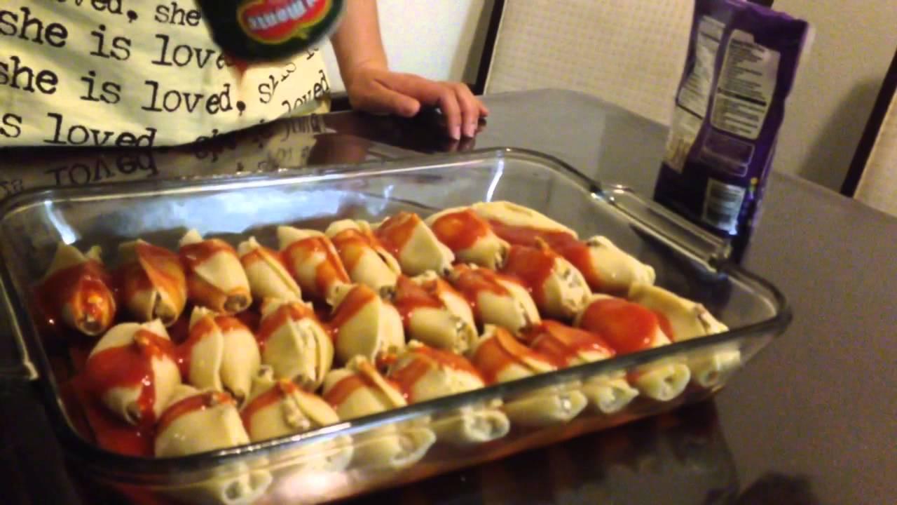 Готовим ракушки фаршированные мясом! - YouTube