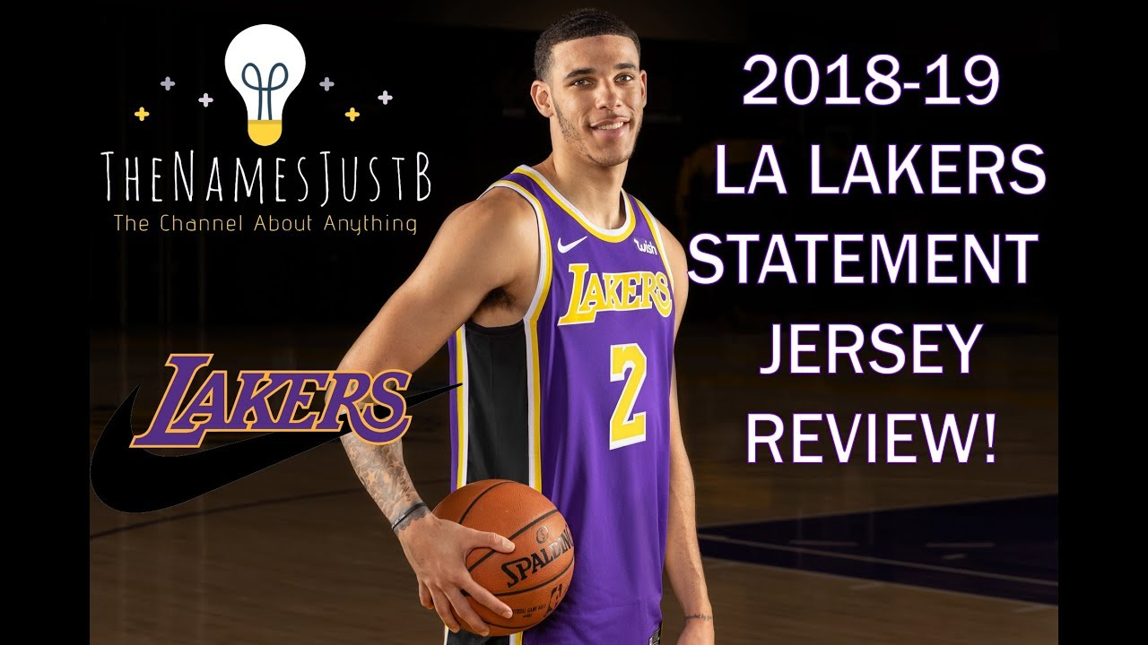 meet d2520 9aed9 *NEW* NIKE LA LAKERS 2018-19 STATEMENT EDITION SWINGMAN JERSEY REVIEW
