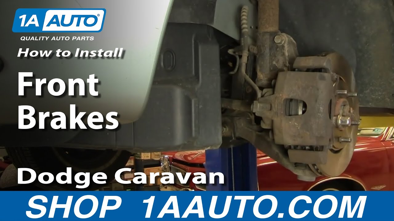 How To Install Replace Front Disc Brakes Dodge Caravan