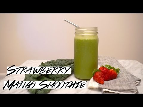 Strawberry Mango Breakfast Smoothie Alkaline & Vegan
