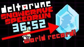 World Record - Deltarune Chapter 2 Speedrun in 36:52 (Snowgrave Route)