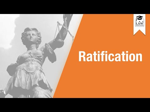 Commercial Law - Agency by Ratification