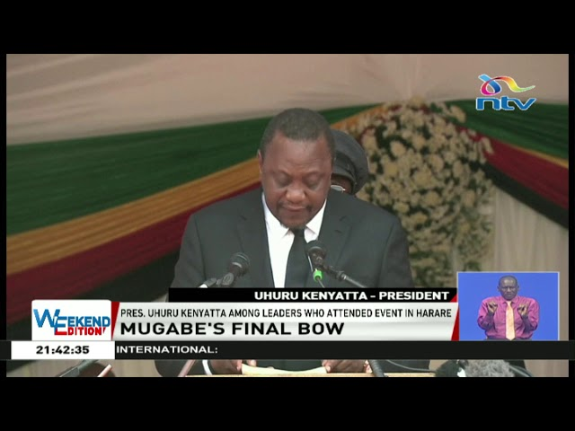 South African president booed at Robert Mugabe funeral service