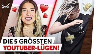 Die 5 GRÖSSTEN YouTuber-Lügen! | TOP 5