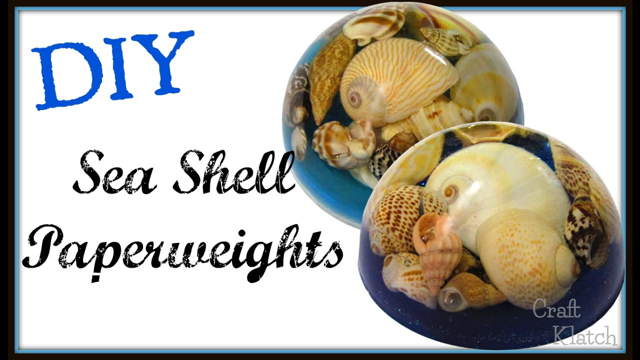 Sea Shell Resin Paperweight Diy Project Craft Klatch Resin