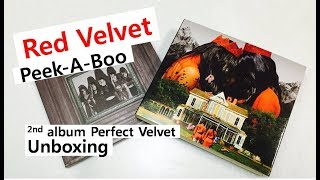 Red velvet  Peek A Boo unboxing 레드벨벳 レッド・ベルベット 피카부 언박싱 Perfect velvet
