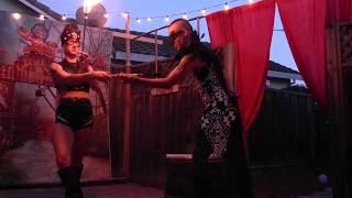 Live Fire Eating Magic Performance - La Dragonesa & Alex el Veterano (Cerebellum Projekt)