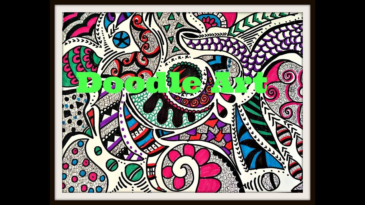 diy doodle art youtube