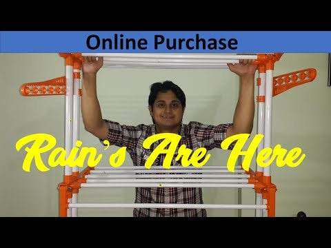 Drying Stand | Online Purchase | Review - Rains Are Here | Unboxing | Super Quality | Best Deal 🔥🔥