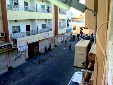 Police Attack Protesters In Sanabis Village Near Manama Bahrain