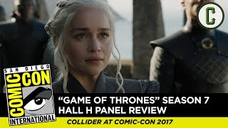 Game of Thrones Season 7 Panel Review - Comic Con 2017