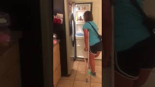 Walking with crutches no hands