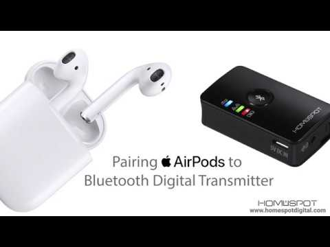 How To Pair Apple Airpods with HomeSpot Bluetooth Transmitter (Digital)