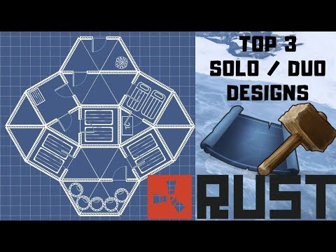 Top 3 Solo / Duo Base Designs | RUST | 2018 thumbnail