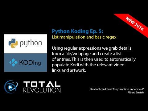 Python Koding 5: Lists, loops & regex