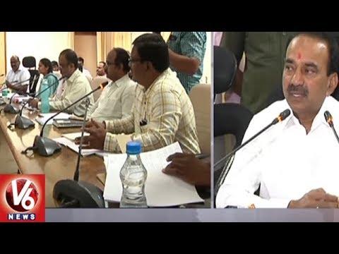 Minister Etela Fires On Govt Officials Over Delay In Mission Bhagiratha Works   Karimnagar   V6 News