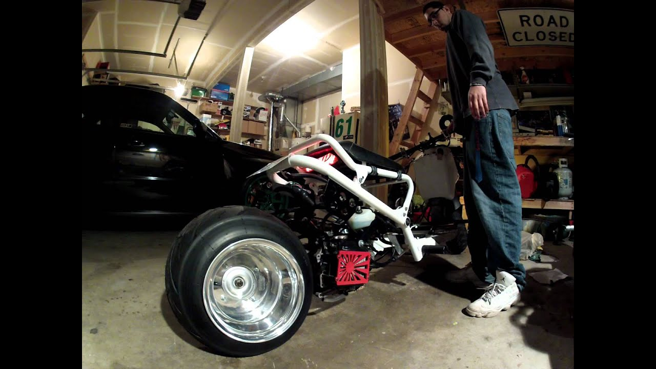 Honda Fatty Ruckus GET w/ chopped exhaust - YouTube