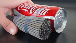 EXPERIMENT: SPARKLERS vs COCA COLA