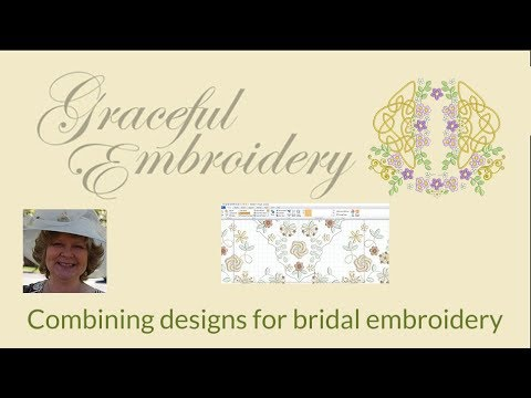 Combining designs for Bridal embroidery