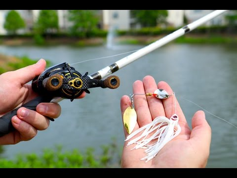 Fishing For GIANT Subdivision Pond Bass!!!