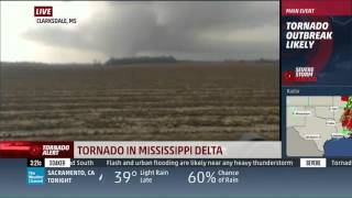 Tornado Captured Live on The Weather Channel 12-23-15