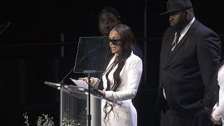 Lauren London Speaks At Nipsey Hussle's Memorial Service